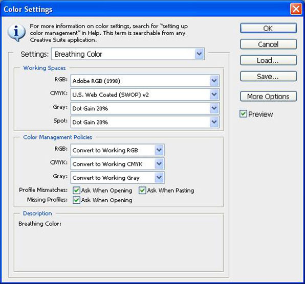 epson 9900 color settings