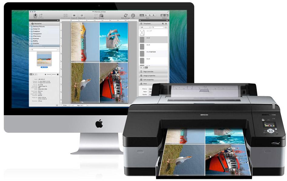 Image of PrinTao on iMac and Printer
