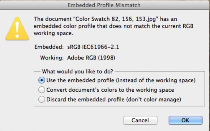 Use embedded profile
