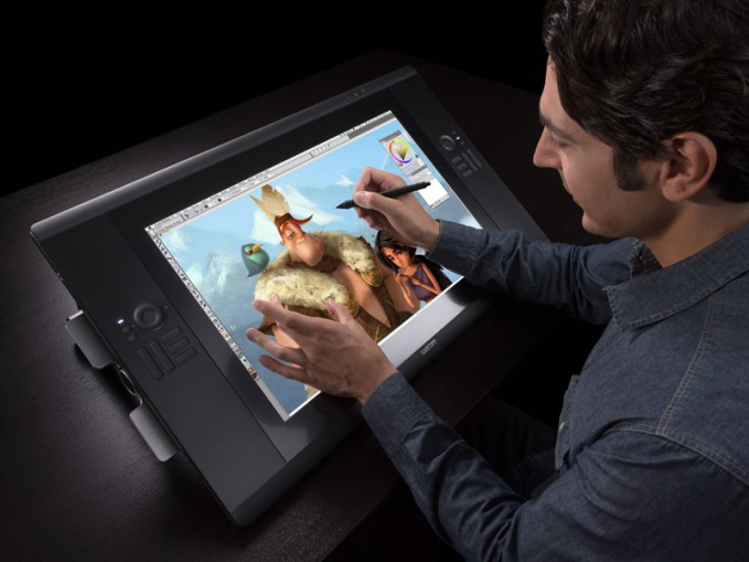 The Wacom Cintiq lets you retouch directly on the screen with its stylus.