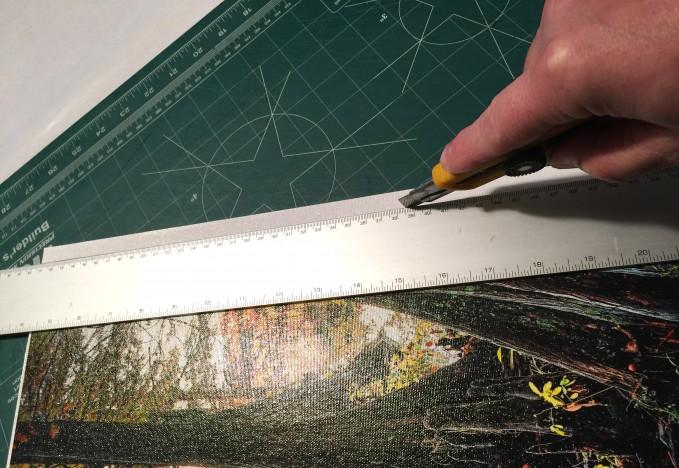 1.  Making the finishing cut against a ruler