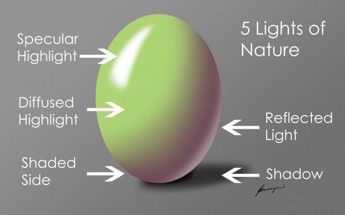 lighting for illustration