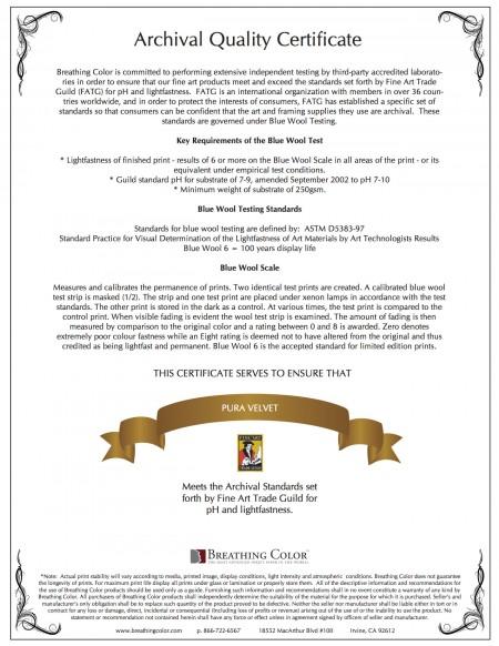 Archival certificates