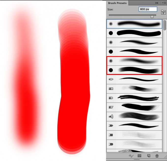 Photoshop brush tools