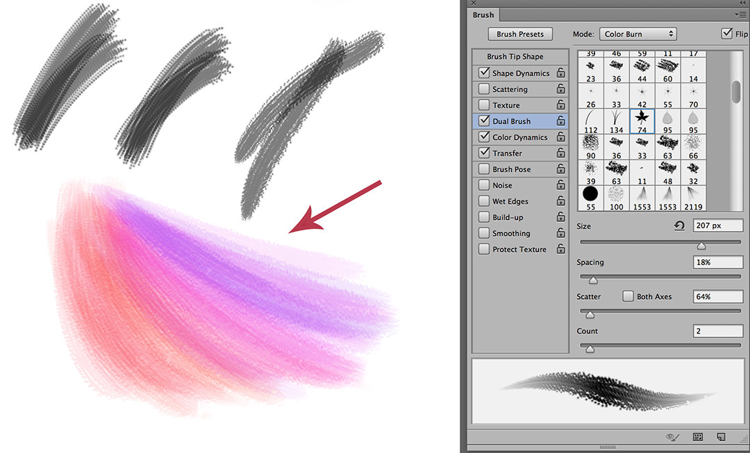 how to make a custom photoshop brush