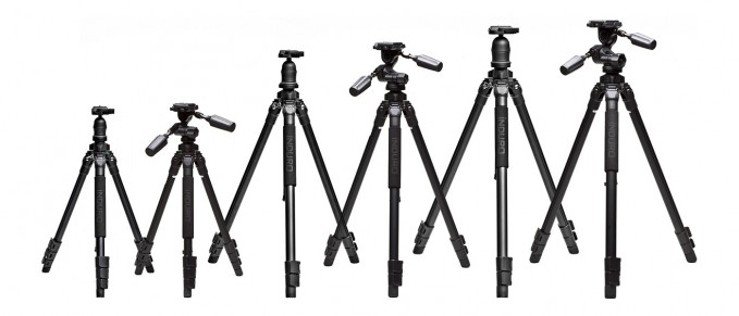 range of tripods
