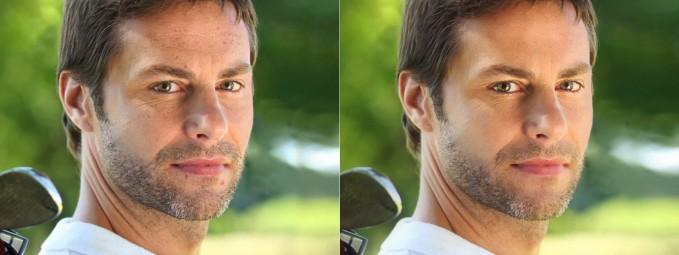 retouching men's portrait