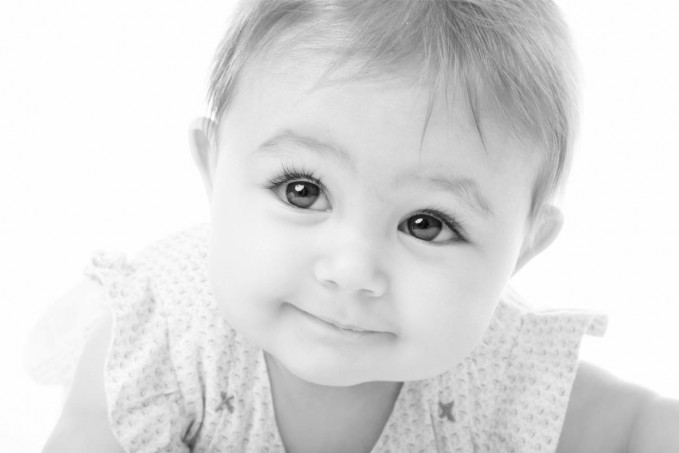 how to retouch baby portraits