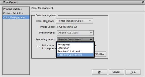 rendering intents color management