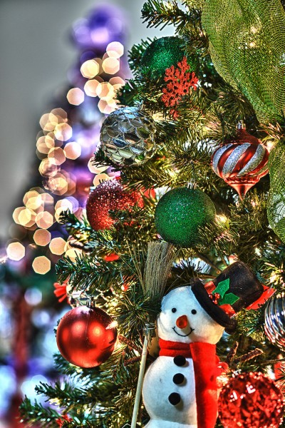 How to photograph christmas decorations