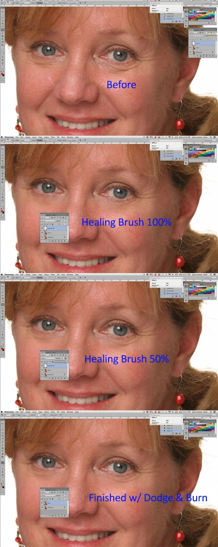 photoshop healing brush example