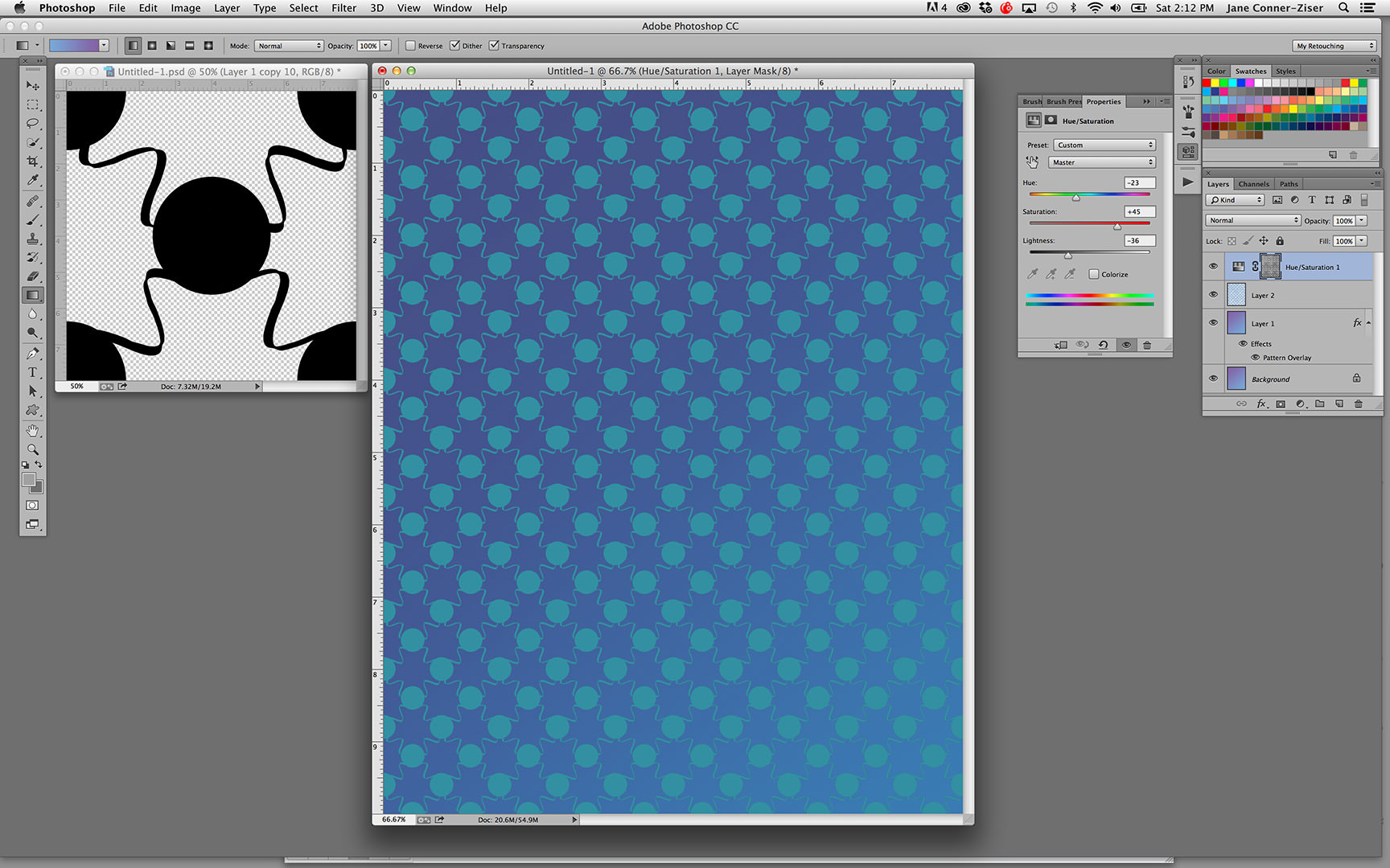 background create patterns in photoshop