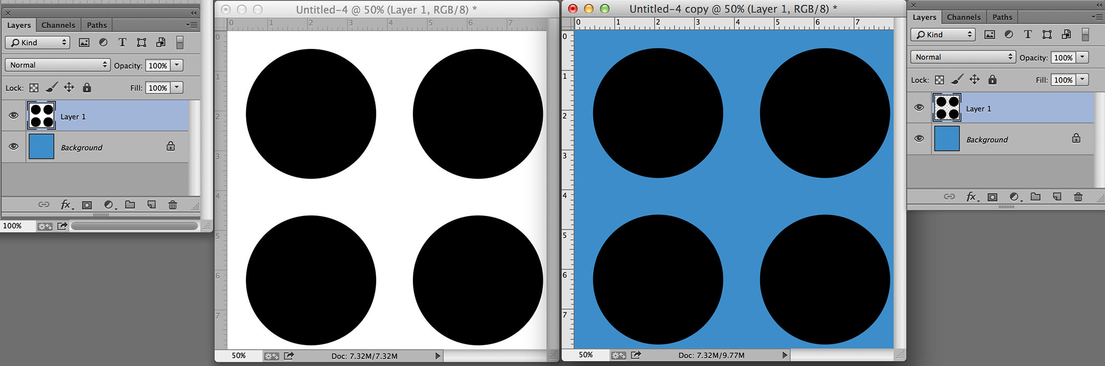 create patterns in photoshop polka dot