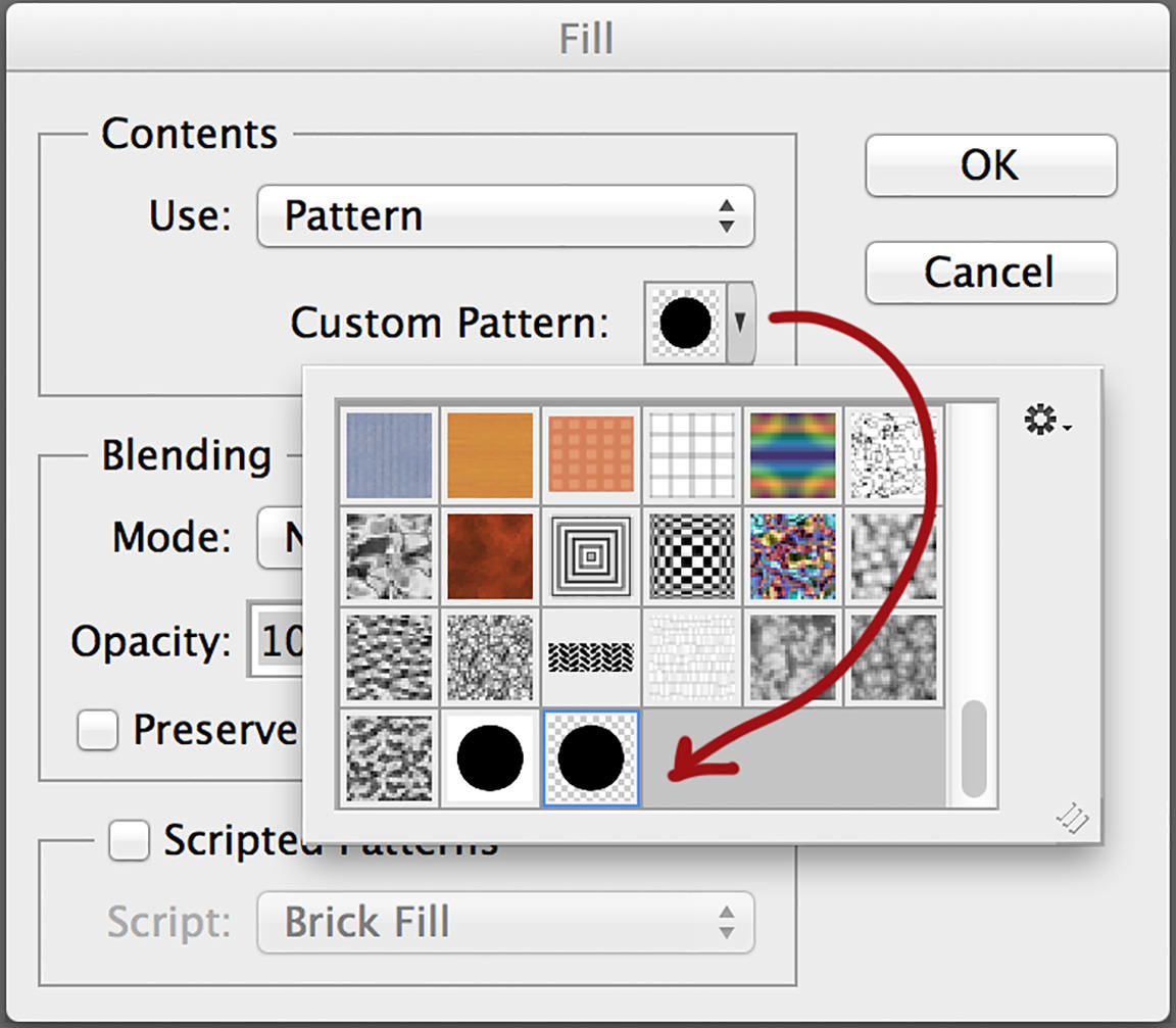 create patterns in photoshop apply