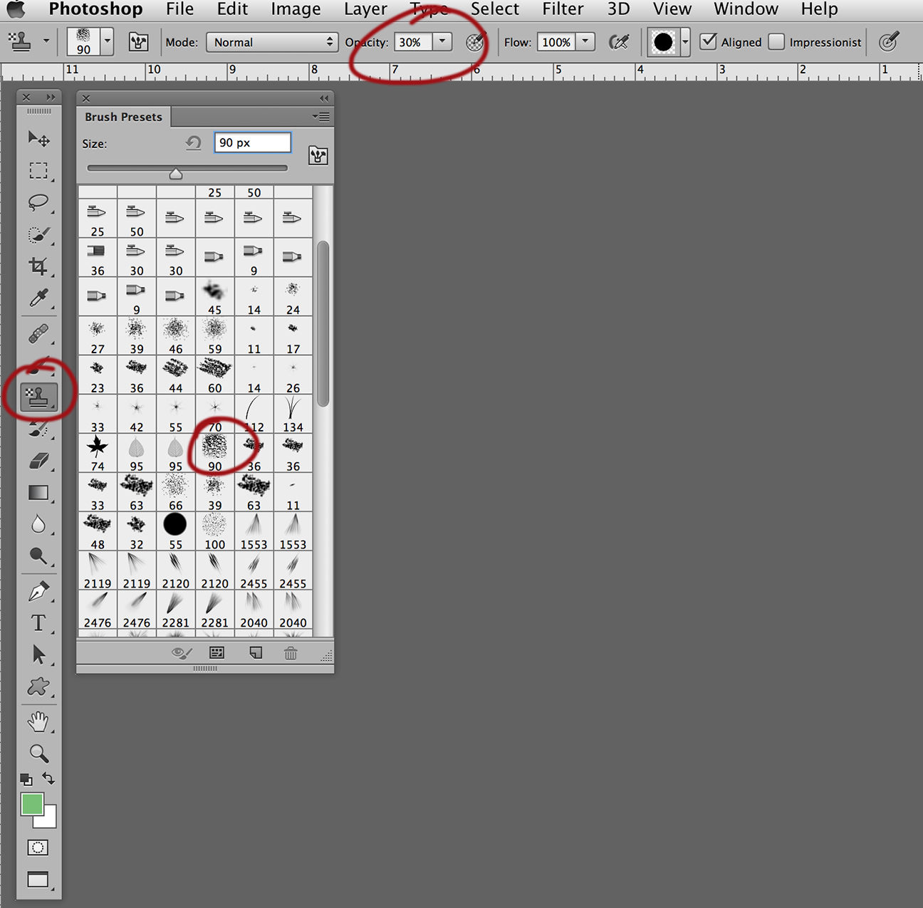 create patterns in photoshop ball