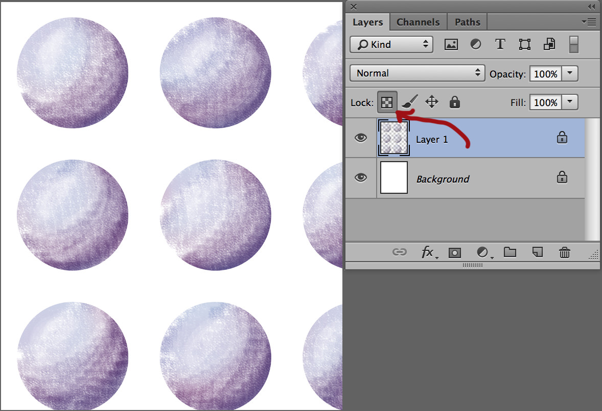 circle create patterns in photoshop