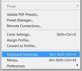 photoshop keyboard shortcuts edit