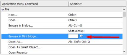 photoshop keyboard shortcuts create