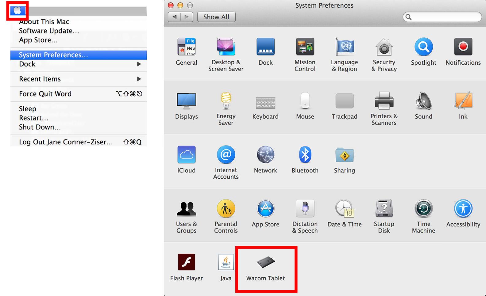 tablet shortcuts wacom