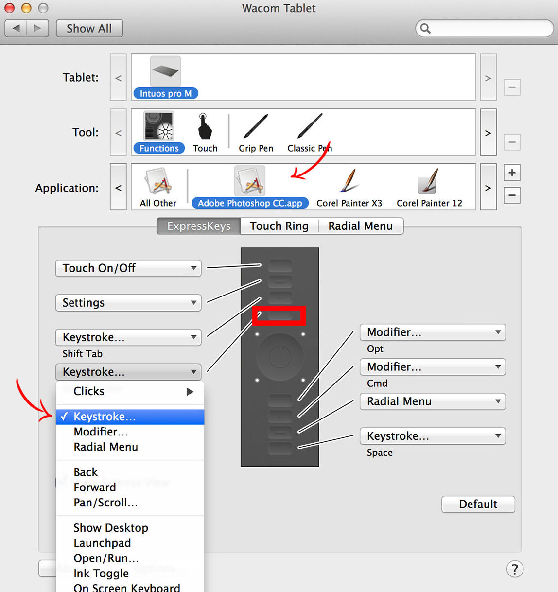 tablet shortcuts applications field