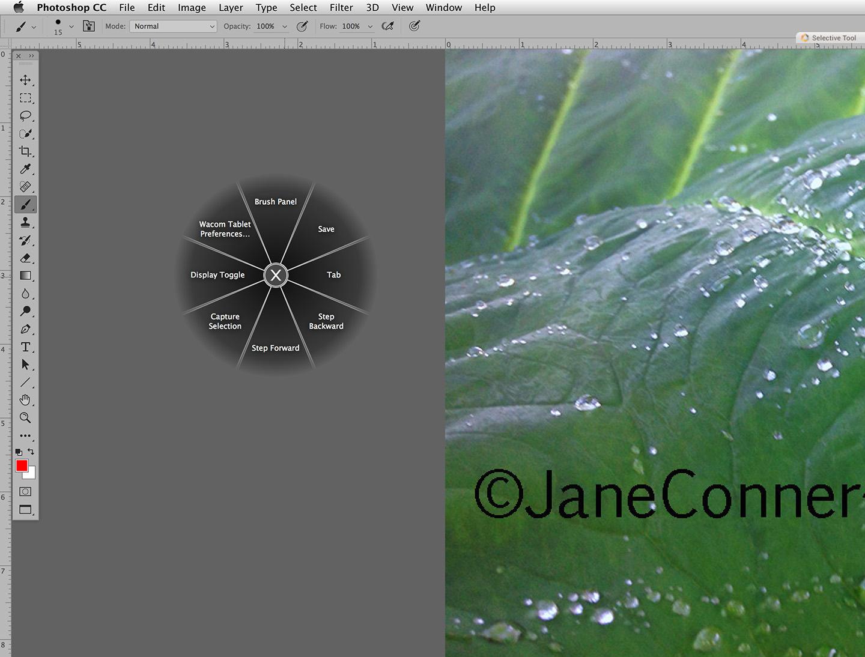 tablet shortcuts radial menu photoshop
