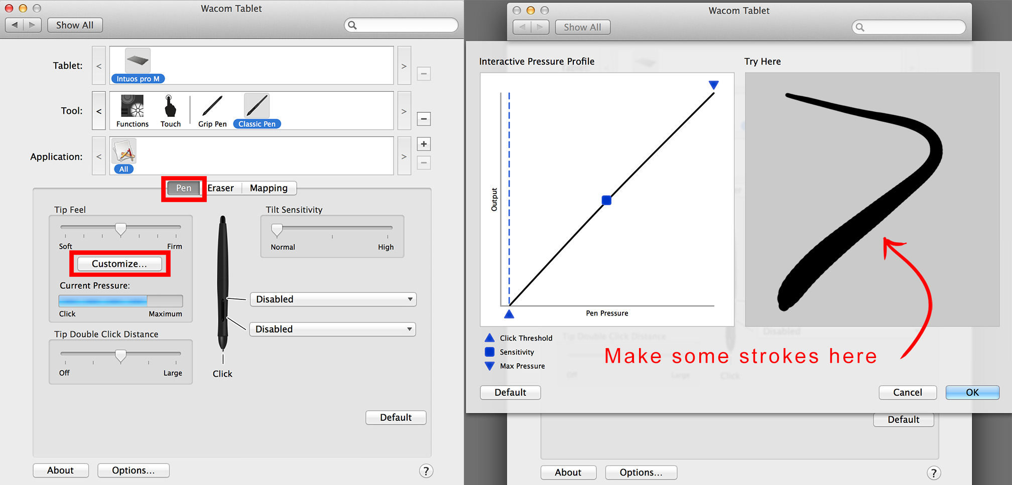 tablet shortcuts photoshop strokes