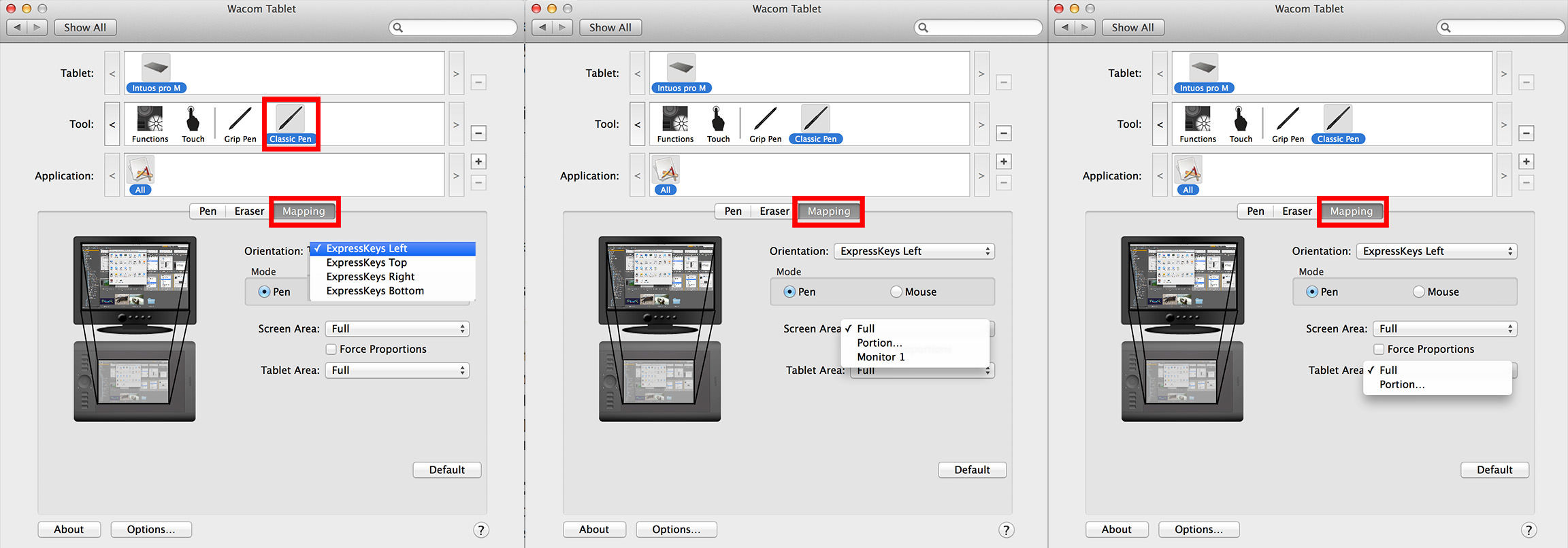 tablet shortcuts mapping panel photoshop