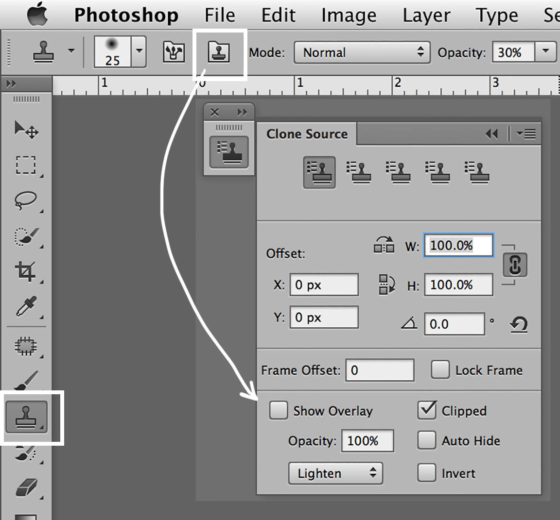 custom photoshop workspaces healing brush tool