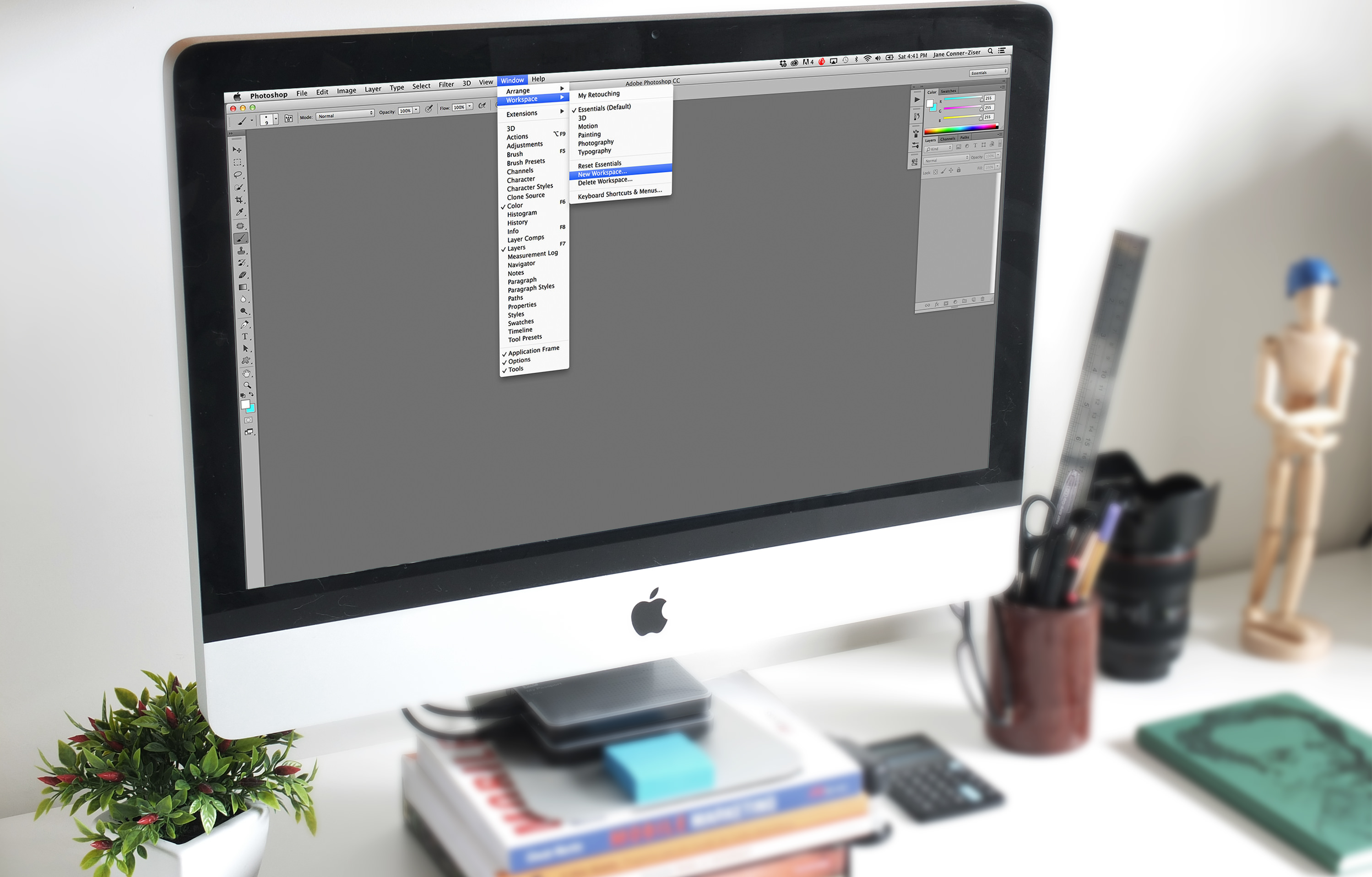 custom photoshop workspaces