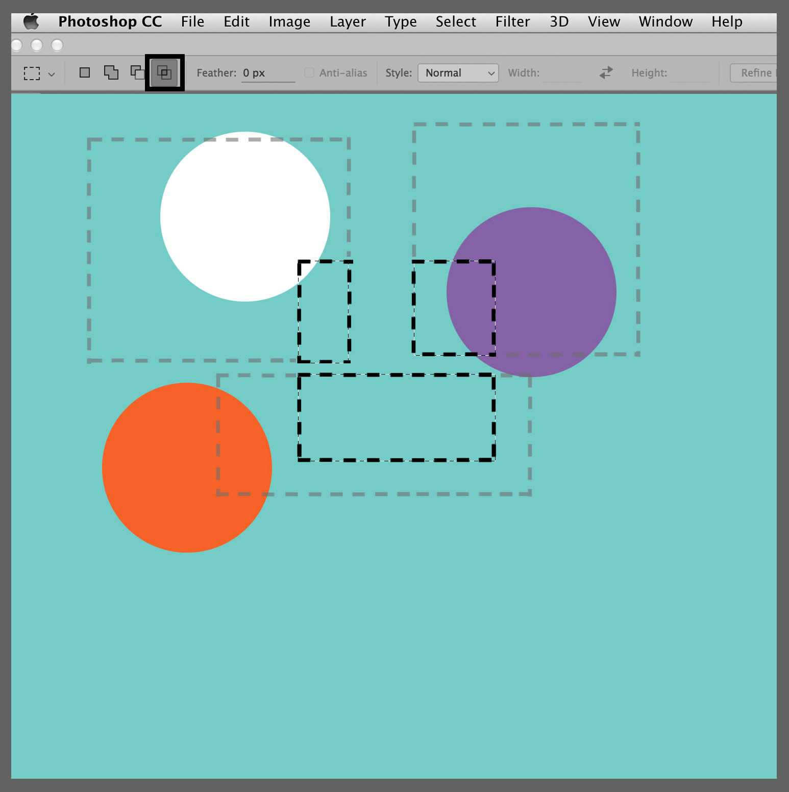 marquee tools intersecting