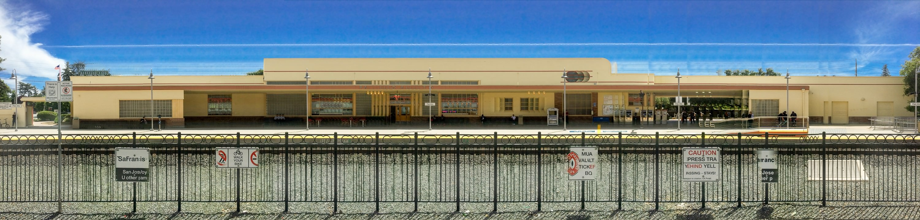 panoramas with phone train station