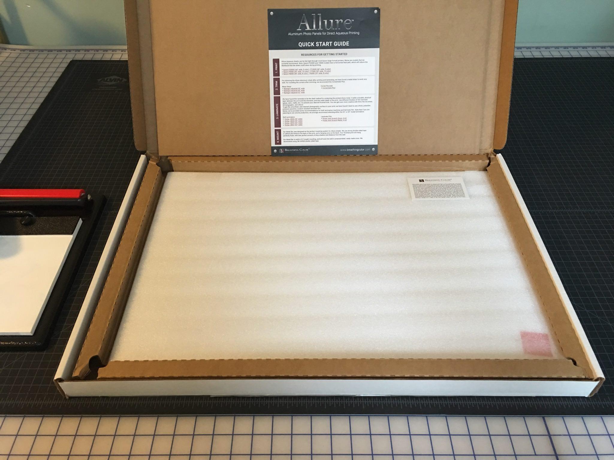 metal printing workflow allure photo panels