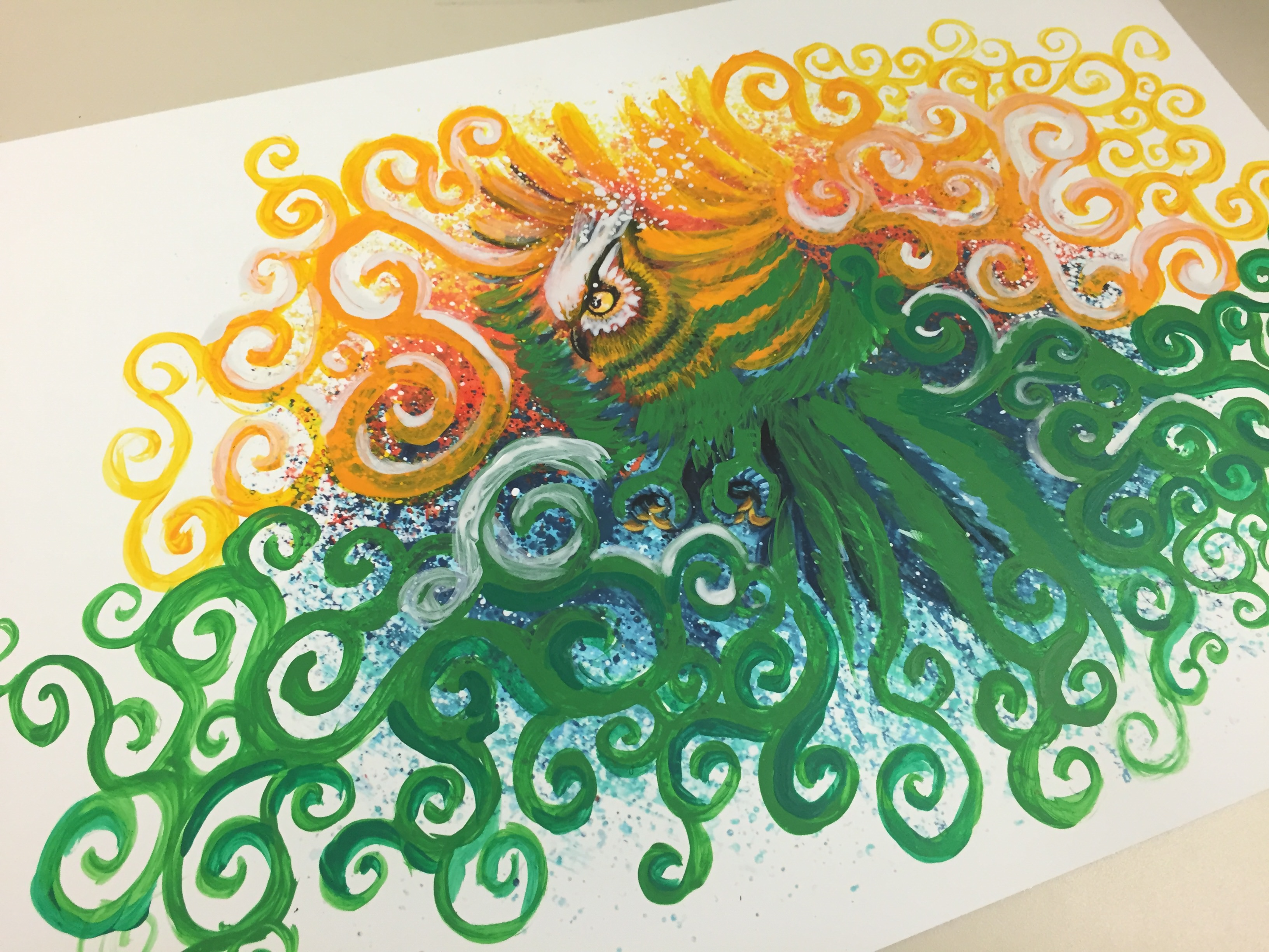 embellishing an art print