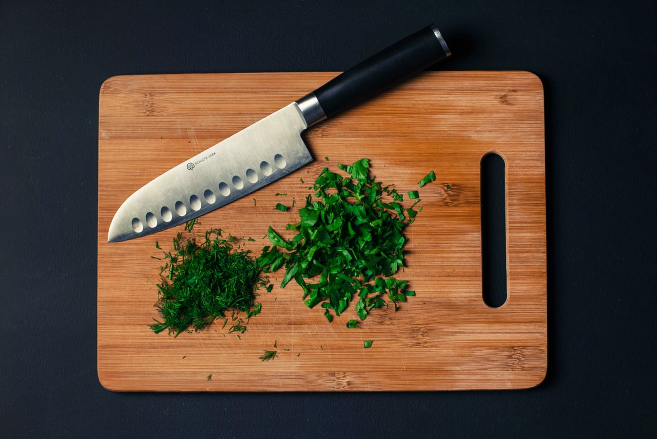 food photography cutting board