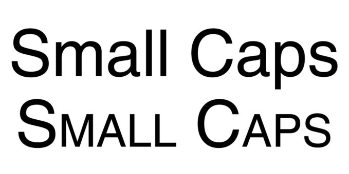 photoshop character panel small caps