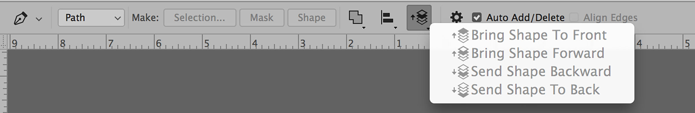 pen tool in photoshop shape layer